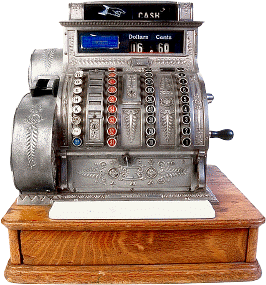 A cash register at a retail store that is very old but helps demonstrate relevant skills for retail jobs to list on a resume  https://upload.wikimedia.org/wikipedia/commons/8/8c/Antique_cash_register.png