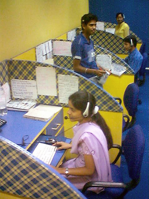Skilled telemarketers in a call center assist customers with problems and sell products, with great sales and telemarketing skills on a resume  https://upload.wikimedia.org/wikipedia/commons/e/ed/An_Indian_call_center.jpg