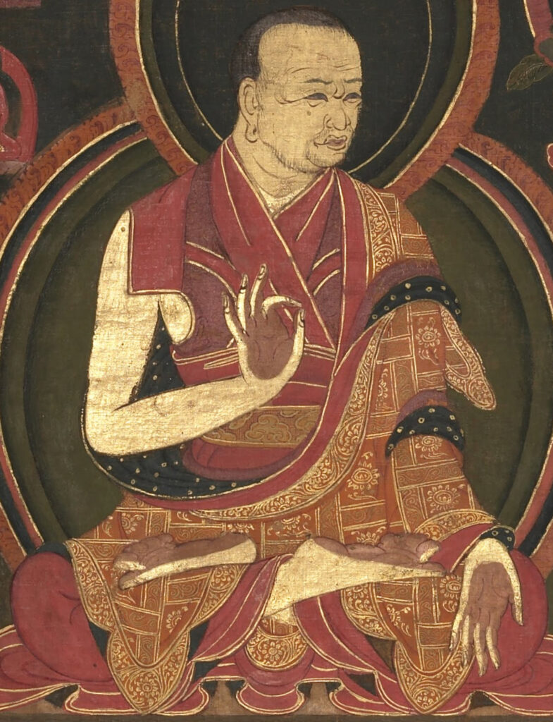 A teacher meditating and using his teacher skills to transfer them and apply them to a new task  https://upload.wikimedia.org/wikipedia/commons/0/06/First_Sangye_Nyenpa_%28teacher_of_the_Eighth_Karmapa%2C_Mikyo_Dorje%29%2C_art_dates_to_1570%27s_or_1580%27s%2C_Eighth_Karmapa%2C_Mikyo_Dorje_%281507-1554%29_and_his_teacher_the_First_Sangye_Nyenpa_%28cropped%29.jpg