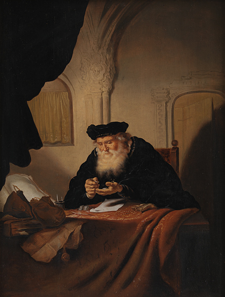 An old man accountant keeping track of important finances for his company so that he can put great accounting skills on his resume  https://upload.wikimedia.org/wikipedia/commons/4/4e/Salomon_Koninck_-_An_Old_Man_Counting_his_Money_-_KMSst270_-_Statens_Museum_for_Kunst.jpg