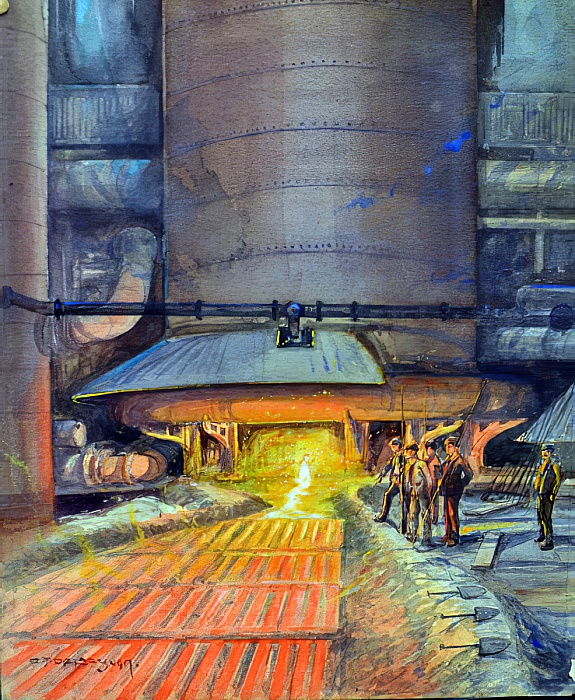 Steel workers with good technical skills and lots of work experience pay acute attention to their jobs, and sometimes focus on details  https://upload.wikimedia.org/wikipedia/commons/2/22/Charles_John_de_Lacy_-_Steel_workers_casting_girders_1917_%28wc_bodycolour_on_paper%29_-_%28MeisterDrucke-368815%29.jpg