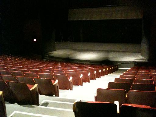 An empty theater where many skilled actors with great acting resumes would perform for large audiences  https://upload.wikimedia.org/wikipedia/commons/5/53/Mckenna_Theater_Stage%3B_SUNY_%40_New_Paltz.jpg